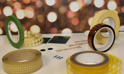 The full range of conformal coating masking tapes and dots from Elder Engineering
