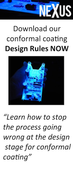 Download our conformal coating design rules to help prevent process problems